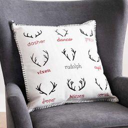 New!Reindeer Names Pillow | Kirkland's Home
