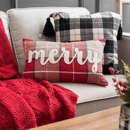 Merry Plaid Pillow | Kirkland's Home