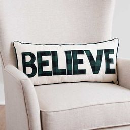 New!Believe Embroidered Accent Pillow | Kirkland's Home