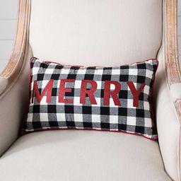 Merry Buffalo Check Accent Pillow | Kirkland's Home