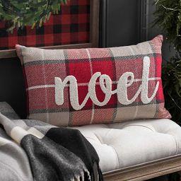 Noel Plaid Pillow | Kirkland's Home