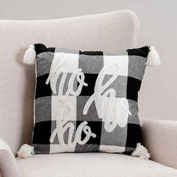 New!Buffalo Check Ho Ho Ho Pom Pom Pillow   Kirkland's Home