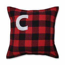 New!Black and Red Buffalo Plaid Monogram C Pillow | Kirkland's Home