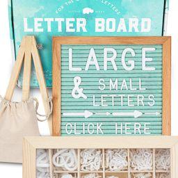 Felt Letter Board 10x10 (Seafoam) +690 PRE-Cut Letters +Cursive Words Stand +Sorting Tray   Lette...   Amazon (US)