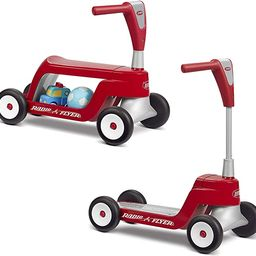 Radio Flyer Scoot 2 Scooter, Toddler Scooter or Ride on, Ages 1-4,Red | Amazon (US)