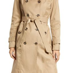 Double Breasted Trench Coat With Removable Hood | Nordstrom