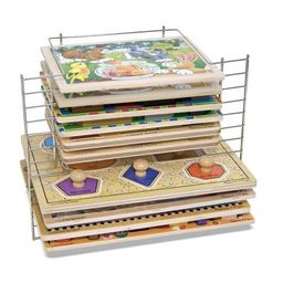 Melissa & Doug Deluxe Metal Wire Puzzle Storage Rack for 12 Small and Large Puzzles | Target