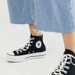 Converse Chuck Taylor All Star Hi Lift sneakers in black | ASOS (Global)