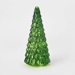LIT Medium Mercury Glass Christmas Tree Decorative Figurine Green - Wondershop™ | Target