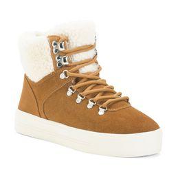 Cozy Suede Hiker Boots | Marshalls