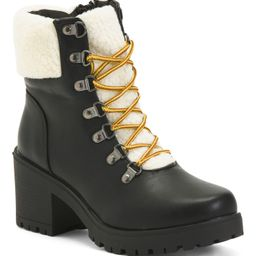 Cozy Lined Lace Up Hiker Boots | Marshalls