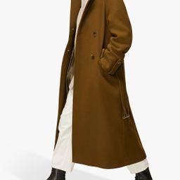 Whistles Wool Blend Belted Trench Coat, Khaki   John Lewis (UK)