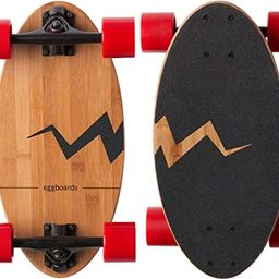 Eggboards Mini Longboard Bamboo Wood - Sustainable Compact Skateboard for Adults and Kids. Easy t... | Amazon (US)