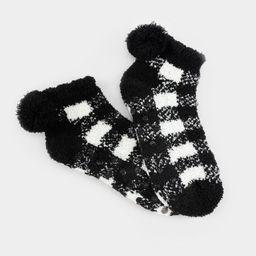 Cara Plaid PomPom Ankle Socks | Francesca's Collections