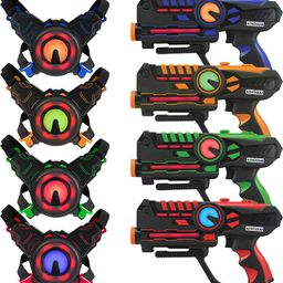 ArmoGear Laser Tag – Laser Tag Guns with Vests Set of 4 – Multi Player Laser Tag Set for Teen... | Amazon (US)