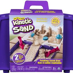 Kinetic Sand, Folding Sand Box with 2lbs of & Mold & Tools, Multicolor   Amazon (US)