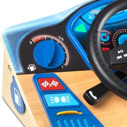 Melissa & Doug Vroom & Zoom Interactive Wooden Dashboard Pretend Play Driving Toy   Amazon (US)