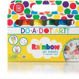 Do A Dot Art! Markers 6-Pack Rainbow Washable Paint Markers, The Original Dot Marker   Amazon (US)