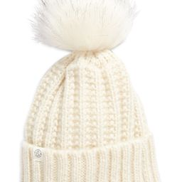 Cuffed Beanie with Faux Fur Pom | Nordstrom