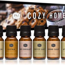 P&J Trading Fragrance Oil | Cozy Home Set of 6 - Scented Oil for Soap Making, Diffusers, Candle M... | Amazon (US)