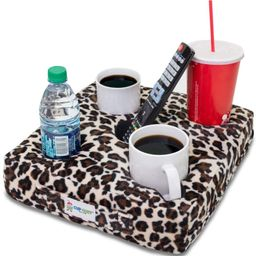 Cup Cozy Deluxe Pillow (Cheetah) As Seen on TV -The world's BEST cup holder! Keep your drinks clo... | Amazon (US)