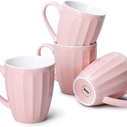 Sweese 602.108 Porcelain Fluted Mugs - 14 Ounce Coffee Cup Set for Coffee, Tea, Cocoa, Set of 4, ... | Amazon (US)