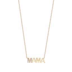 First Letter Diamond Uppercase MAMA Necklace | Lola James Jewelry