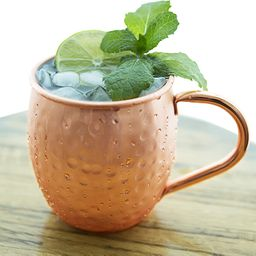 Moscow Mule Hammered Copper Mugs by Copper and Mill- Gift Box Set of Copper Cups Stainless-Steel ...   Amazon (US)