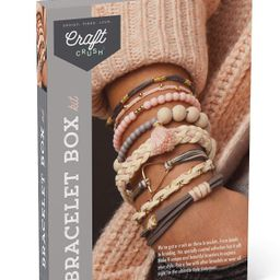 Craft Crush – Bracelet Box Kit – Craft Kit Makes 8 DIY Bracelets – Blush Tones | Amazon (US)