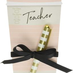 Lady Jayne Teacher Coffee Cup Notepad with Pen (11896) | Amazon (US)