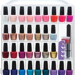 Nail Polish organizer storage holder case - stores 64 bottles - free polish remover bottle | Amazon (US)