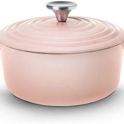 House of Living Art Dutch Oven, Enameled Cast Iron, 2.7 Quart, Pink | Amazon (US)