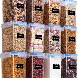 Vtopmart Airtight Food Storage Containers 12 Pieces 1.5qt / 1.6L- Plastic PBA Free Kitchen Pantry...   Amazon (US)