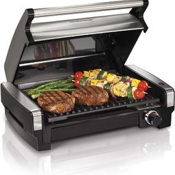Hamilton Beach Electric Indoor Searing Grill Removable Easy-To-Clean Nonstick Plate, 6-Serving, E... | Amazon (US)