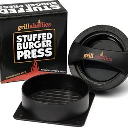 Grillaholics Stuffed Burger Press and Recipe eBook - Extended Warranty - Hamburger Patty Maker fo... | Amazon (US)