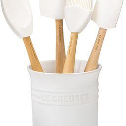 Le Creuset Silicone Craft Series Utensil Set with Stoneware Crock, 5 pc., White | Amazon (US)