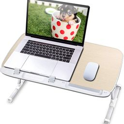 AboveTEK Laptop Desk for Bed, Portable Table Tray with Foldable Legs, Height Adjustable Notebook ... | Amazon (US)