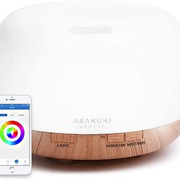 ASAKUKI Smart Wi-Fi Essential Oil Diffuser, App Control Compatible with Alexa, 2020 UPGRADE Desig... | Amazon (US)