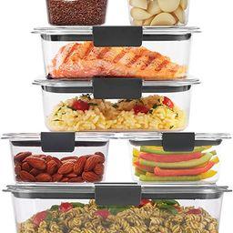 Rubbermaid Brilliance Storage 14-Piece Plastic Lids | BPA Free, Leak Proof Food Container, Clear | Amazon (US)