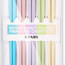 Hiware Reusable Fiberglass Chopsticks Dishwasher Safe, Lightweight, Multicolor - 5 Pairs Gift Set | Amazon (US)