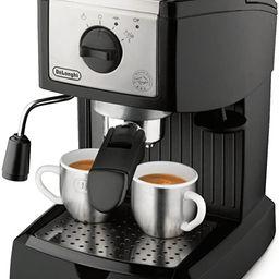 De'Longhi EC155 15 Bar Pump Espresso and Cappuccino Maker,Black | Amazon (US)