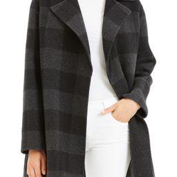 Buffalo Plaid Wool Coat   Nordstrom Rack