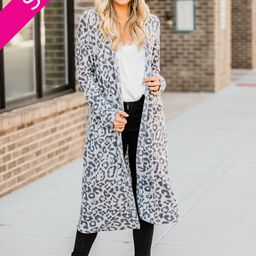 Wish You Well Animal Print Duster Cardigan | The Pink Lily Boutique