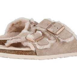 Birkenstock Arizona Shearling (Nude/Nude Suede/Shearling) Women's Shoes   Zappos