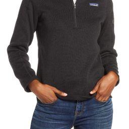 Women's Patagonia Better Sweater Quarter Zip Performance Jacket   Nordstrom