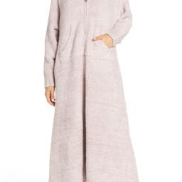 Women's Barefoot Dreams Cozychic Hooded Zip Robe, Size Large/X-Large - Pink   Nordstrom