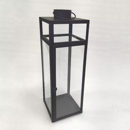 "24"" x 8"" Decorative Metal Lantern Candle Holder Black - Threshold™   Target"