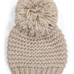 Made In Italy Solid Link Stitch Knit Pom Beanie | Gifts For Her | Marshalls | Marshalls