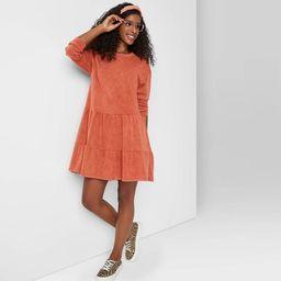 Women's Mineral Wash Long Sleeve Sweatshirt Dress - Wild Fable™   Target
