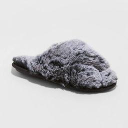 Women's Paris Slide Slippers - Stars Above Black M | Target
